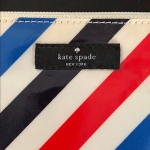 kate spade Bags - Kate Spade striped travel cosmetics case